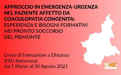 Approccio in emergenza-urgenza nel paziente affetto da coagulopatia congenita: esperienza e bisogni formativi nei pronto soccorso del Piemonte